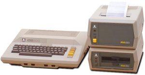 Atari 800 with an 810 drive and 820 printer