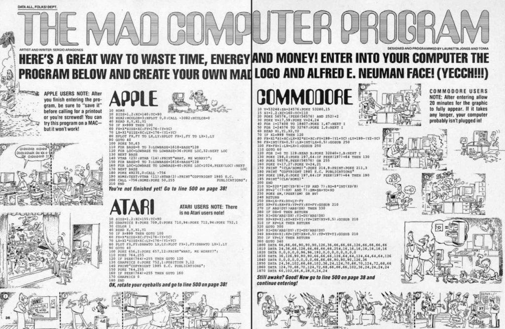 Mad Mag Program 1