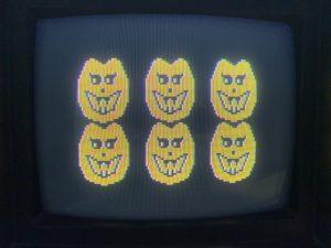Six Pumpkins on an Atari 800