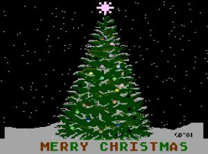 Atari Christmas Tree
