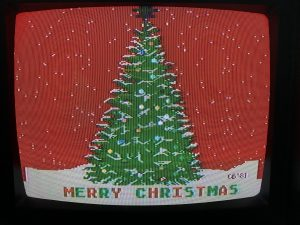 Christmas Tree Demo on Atari 800