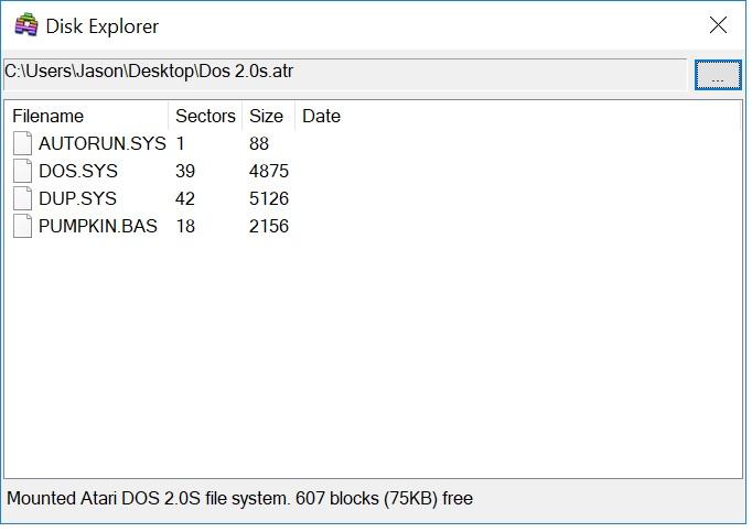 Open ATR Image in Altirra Disk Explorer