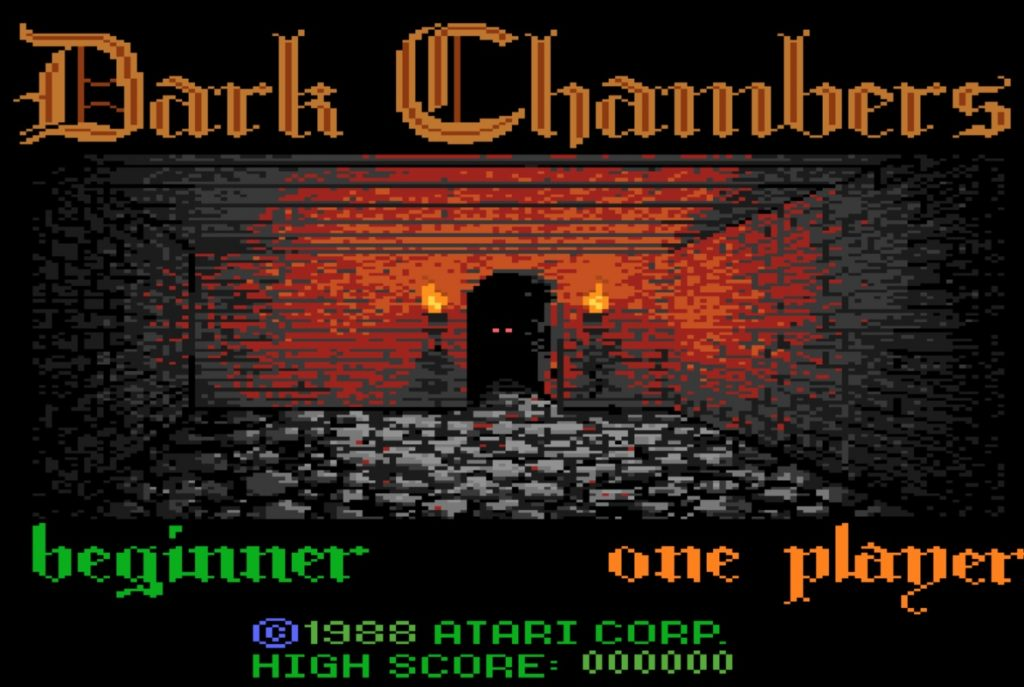 Dark Chambers title screen