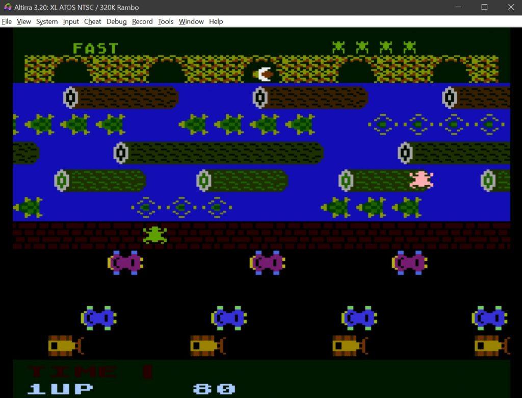 Frogger Atari 800