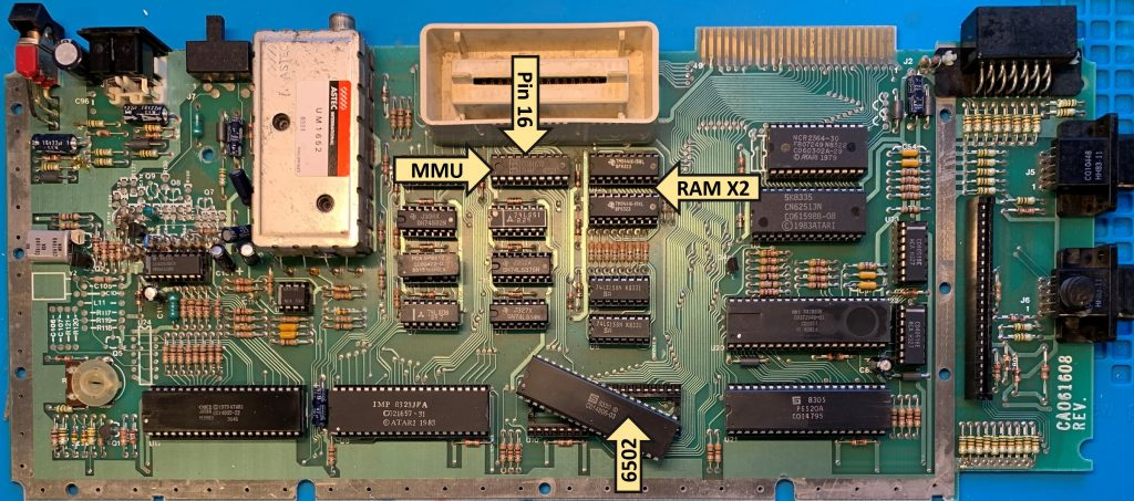 600XL Motherboard with Chip Locations