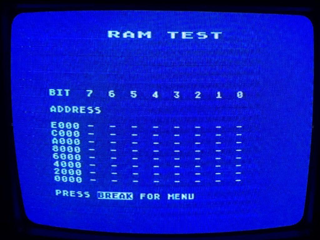 Supersalt RAM Test