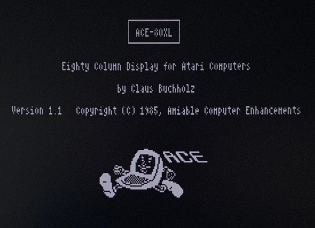 ACE-80XL Intro Screen