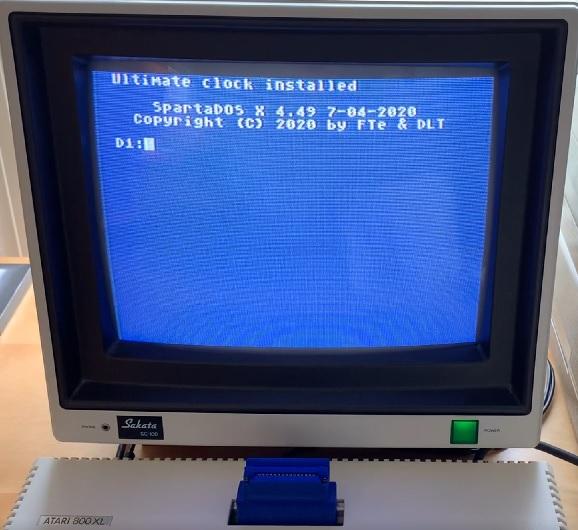 SDX Booted in Atari 800XL