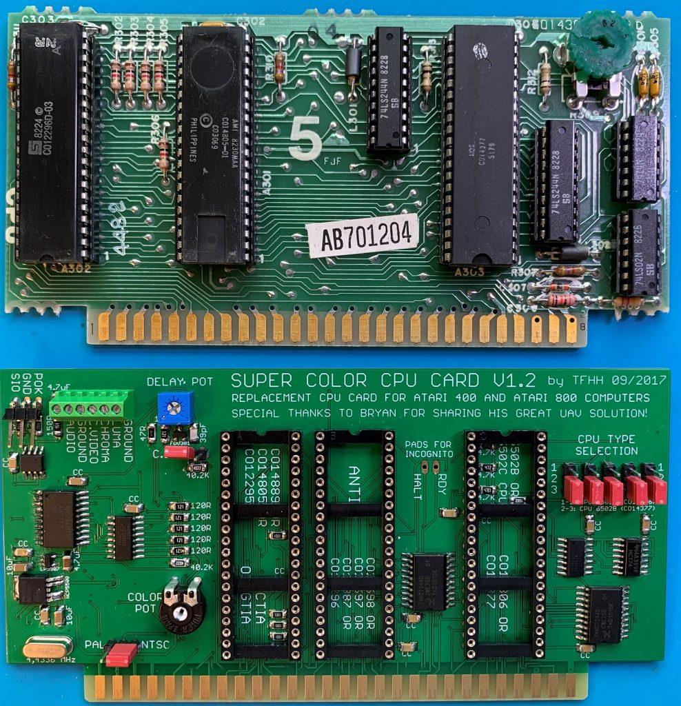 SCCC and Atari 400 CPU Board