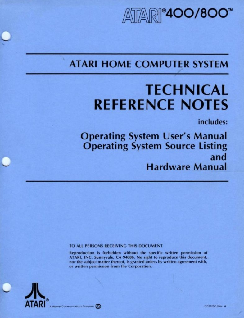 Atari Home Computer System Technical Reference Notes