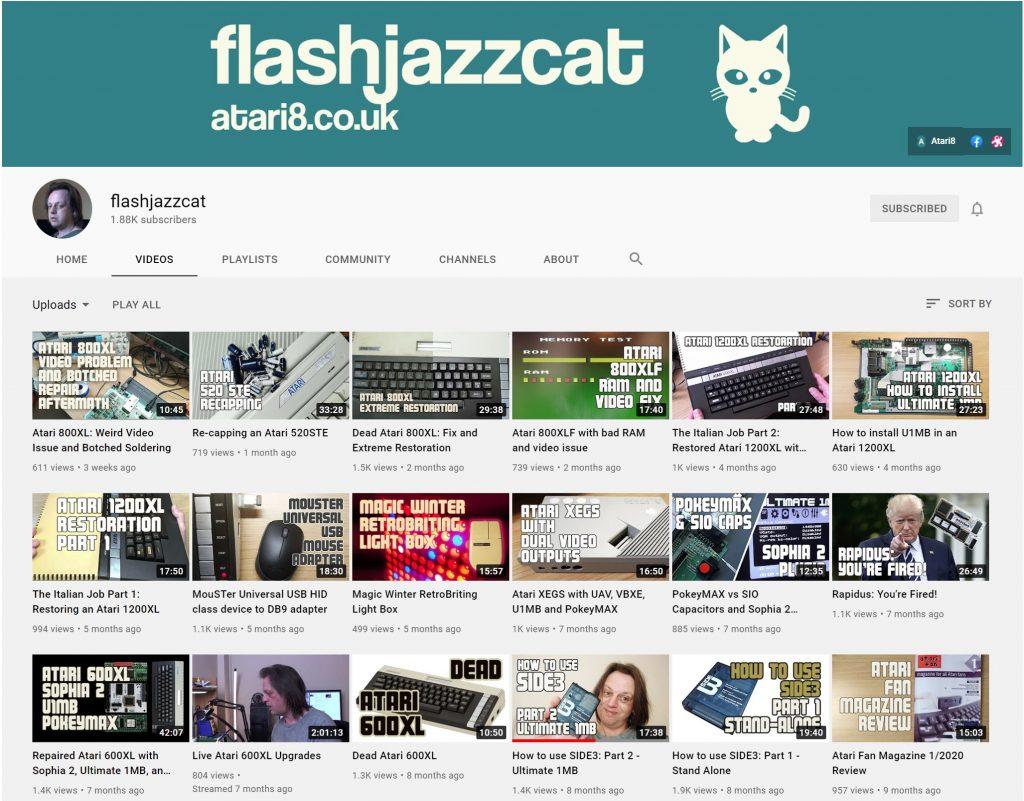FlashJazzCat YouTube Channel